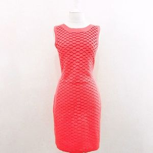 Pink Sleeveless Knee Length Tank Dress